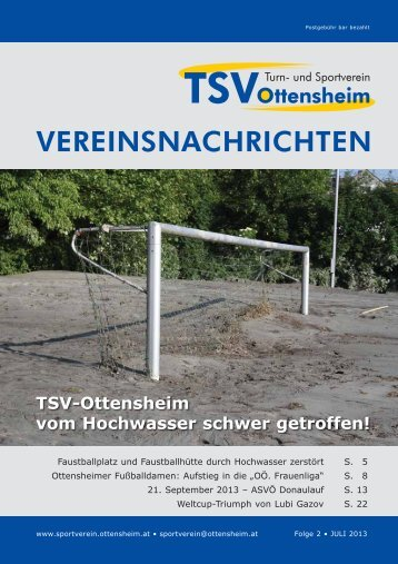 Vereinszeitung - und Sportverein Ottensheim