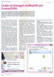Guida al settaggio audiophile per Foobar2000