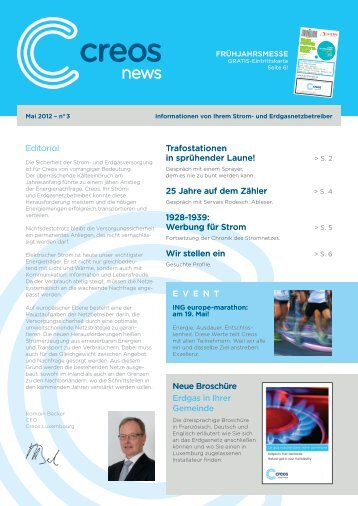 Editorial Trafostationen in sprühender Laune! - Creos Luxembourg SA