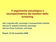 Il seguimento psicologico ed evolutivo dei bambini dello screening ...