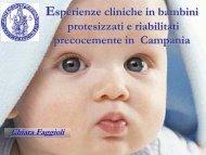 Esperienze cliniche in bambini protesizzati e riabilitati ...