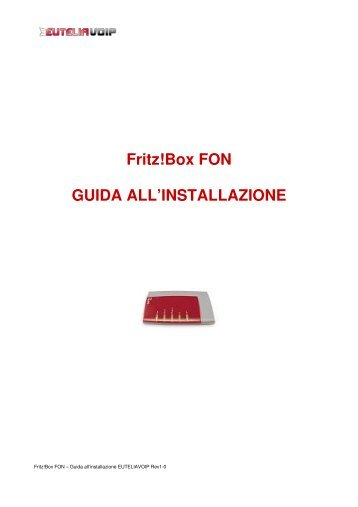 Fritz Box Fon Ata Clouditalia Orchestra