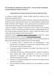 Marciano - Il sito di Audiologia dell'Università Federico II di Napoli ...