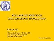 FOLLOW-UP PRECOCE DEL BAMBINO IPOACUSICO - Il sito di ...