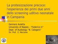 la protesizzazione precoce - Il sito di Audiologia dell'Università ...