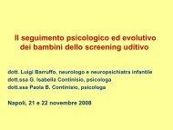 Il seguimento psicologico e neuropsichiatrico dei bambini dello ...