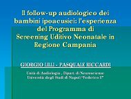 Evoluzione esame audiometrico - Il sito di Audiologia dell'Università ...