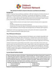 Recruitment Profile for Board of Directors and Board Committees ...