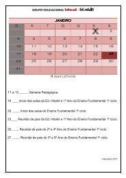 GRUPO EDUCACIONAL - JANEIRO D S T Q Q S S 1 2 ... - Grupo Ideal