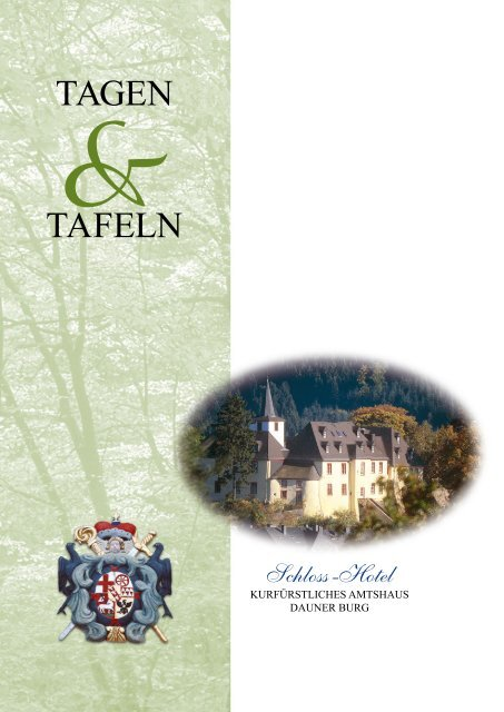 TAGEN TAFELN - Dauner Burg
