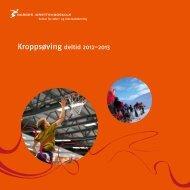 Kroppsøving deltid 2012-2013 - Norges idrettshøgskole