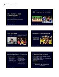 Hva mener vi med håndballfysikk? - Norges idrettshøgskole