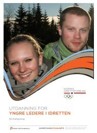 utdanning for YNGRE lEdERE i idREttEN - Norges idrettshøgskole