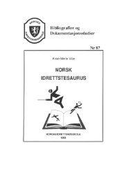 Norsk idrettstesaurus av Anne-Mette Vibe - Norges idrettshøgskole