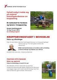 KROPPSØVINGSFAGET I BEVEGELSE - Norges idrettshøgskole