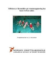 Effekten av flytemidler på svømmeopplæring hos barn i 6-8 års alder.