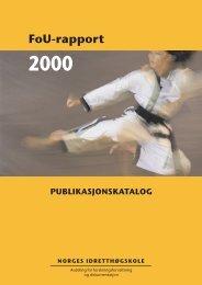 FoU-rapport - Norges idrettshøgskole