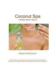 Coconut Spa - Reethi Beach Resort