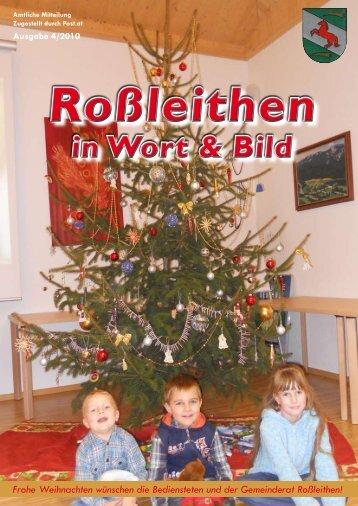 Roßleithen in Wort & Bild 4/2010 - Gemeinde Roßleithen