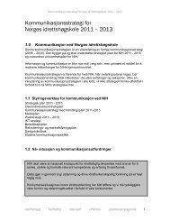 Kommunikasjonsstrategi 2011 - Norges idrettshøgskole
