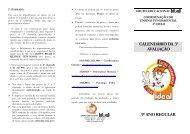 CALENDÁRIO DA 3ª AVALIAÇÃO 9° ANO REGULAR - Grupo Ideal
