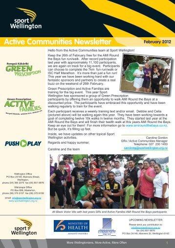Active Communities Term 1, 2012 - Sport Wellington