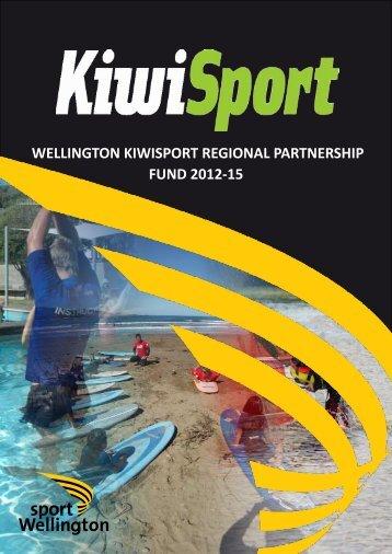 Wellington KiwiSport Regional Partnership Plan ... - Sport Wellington