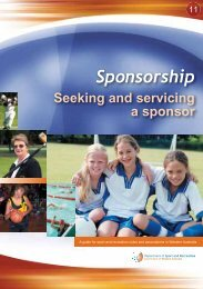 Sponsorship - seeking and servicing a sponsor - Sport Wellington