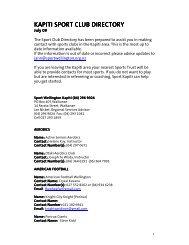 kapiti sport club directory kapiti sport club directory - Sport Wellington