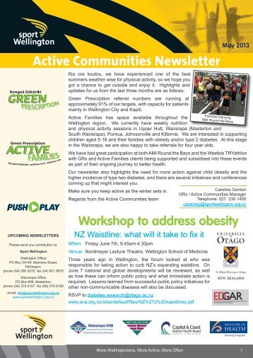 Active Communities Term 2, 2013 - Sport Wellington
