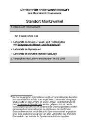 Standort Moritzwinkel - Institut für Sportwissenschaft