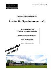 KVV WS 10-11 Gesamt 10-10-04 - Institut für Sportwissenschaft ...