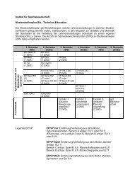 Institut für Sportwissenschaft Musterstudienplan BA - Technical ...