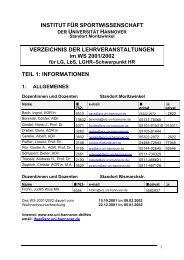 VERZEICHNIS DER LEHRVERANSTALTUNGEN im WS 2001/2002 ...