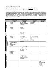 Musterstudienplan MLG 2. Fach - Institut für Sportwissenschaft