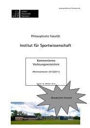 Lehrbeauftragte im WiSe 2012/2013 - Institut für Sportwissenschaft ...