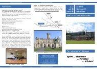 Flyer des Instituts für Sportwissenschaft