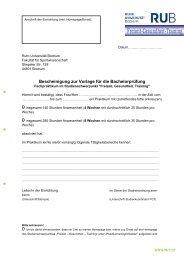 Praktikumsbescheinigung - Ruhr-Universität Bochum