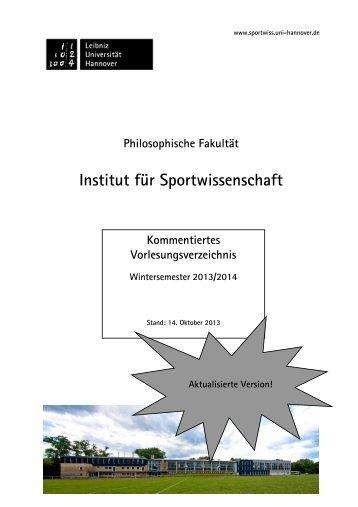 KVV WiSe 1314 - Institut für Sportwissenschaft - Leibniz Universität ...