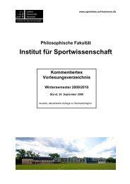Philosophische Fakultät Institut für Sportwissenschaft ...