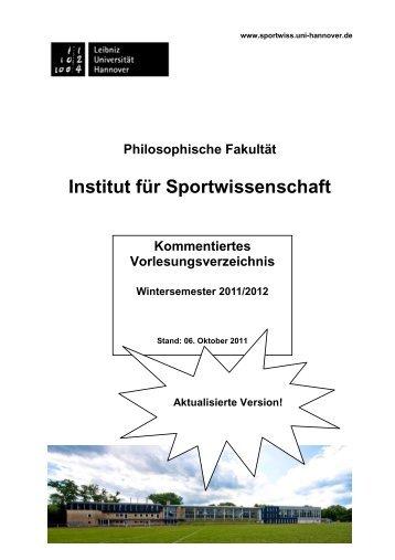 KVV gesamt WS 11-12 20111005 - Institut für Sportwissenschaft ...