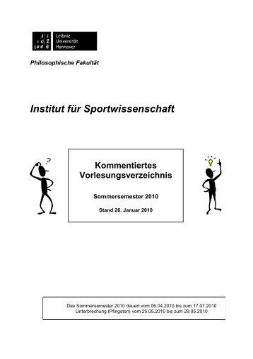 KVV-Gesamt 10 fertig - Institut für Sportwissenschaft - Leibniz ...