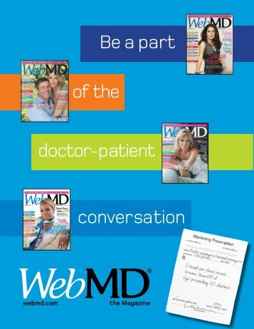 Be a part of the doctor-patient conversation - WebMD