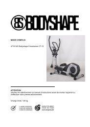 MODE D'EMPLOI 4719.345 Bodyshape Crosstrainer CT ... - SportXX