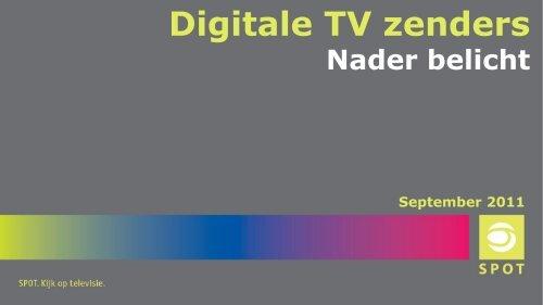 Digitale tv-zenders nader belicht - Spot