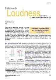 On the way to Loudness nirvana - audio levelling ... - EBU Technical