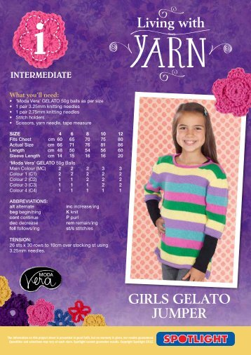 Girls Gelato Jumper - Spotlight