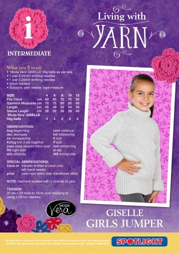 Giselle Girls Jumper - Spotlight