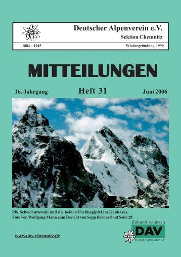 Heft 31 - DAV Sektion Chemnitz