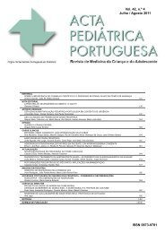 Acta Ped Vol 42 N 4 - Sociedade Portuguesa de Pediatria